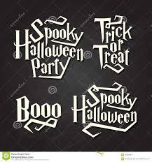 halloween typography quotes on chalkboard stock vector image