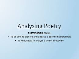 analysing poetry by pip knowles teaching resources tes
