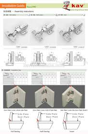 Soft Closing Kitchen Cabinet Hinges by K3drh07 Furniture Fittings Offset Hydraulic 3d Adjustable Soft