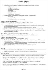 Sample Research Resume by Cv Sample For An Ecologist Environmentalist Susan Ireland Resumes