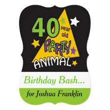 40th birthday forty years old invitations u0026 announcements zazzle