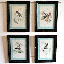 Hummingbird Wall Decor Set of 4