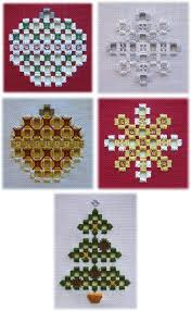 483 best hardanger navidad images on embroidery