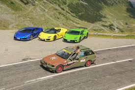 rally lamborghini lamborghini took three huracans to the world u0027s best driving road