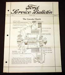 antique ford service bulletin 1923 the lincoln clutch wiring
