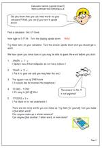 calculator worksheets free worksheets library download and print