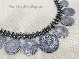 silver coin jewelry necklace images The silver rupee coin necklace ko jewellery JPG