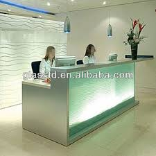 Reception Desk Glass Glass Front Counter Glass Front Counter Suppliers And