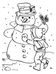 boy finishing giant snowman coloring netart