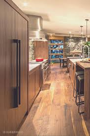 Hardwood Floors In Kitchens Stunning Contemporary Home With Wide Plank Black Walnut Floor
