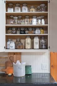 glass kitchen cupboard shelves baking cupboard storage organization creative cain cabin