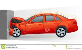 wrecked car drawing car crash stock photography image 23656062