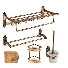 Bathroom Hardware Sets 5 Piece Antique Brass Bathroom Hardware Sets