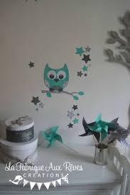 stickers geant chambre fille stickers arbre turquoise pétrole gris hibou oiseaux décoration