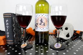 halloween wine bottle labels halloween drink labels