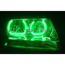light green jeep cherokee jeep grand cherokee square v 3 color change led halo headlight kit