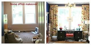 and after makeover decorating a home office