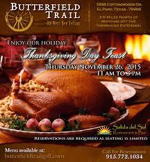 Thanksgiving November 26 Thanksgiving Brunch In El Paso November 22 Butterfield Trail