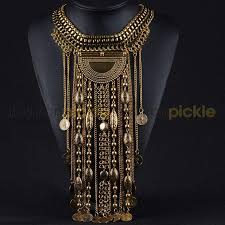 chunky gold necklace fashion images Chamonix chunky long statement gold necklace fashion pickle jpg