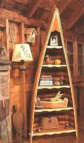 Wooden Canoe Shelf Plans by Amazing Bookcase Made From An Old Canoe It Is For Sale