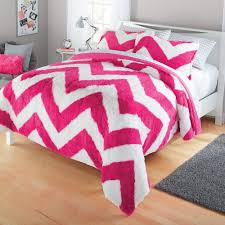 Furry Blanket Your Zone Long Fur Bedding Comforter Set Walmart Com