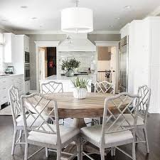 Dining Chairs With Cushions Gray Bamboo Dining Chairs With White Cushions Design Ideas