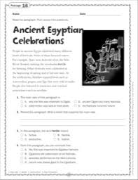 the ancient egyptian celebrations grade 6 close reading passage