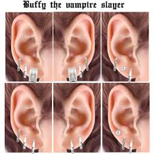 buffy earrings buffy the vire slayer inspired earring setup polyvore
