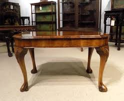 a figured walnut 1920s period antique coffee table 1920