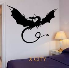online get cheap monster mural aliexpress com alibaba group dragon myth movie fantasy monster cool kid bedroom wall art decal sticker removable vinyl transfer stencil mural home decor