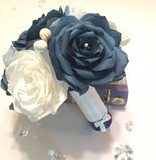 theme wedding bouquets navy blue wedding bouquet alternative wedding bouquet paper