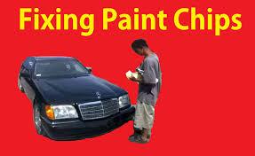 mercedes paint repair fix paint chips on cars cheap easy diy tutorial chip repair