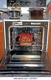 Toaster Oven Turkey Thanksgiving Turkey Roasting In Oven Stock Photos U0026 Thanksgiving