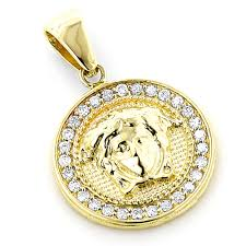 vintage diamond necklace pendants images 14k gold vintage versace style diamond pendant medusa medallion 2ct jpg