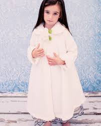 ivory fleece u0026 fur trim tea length girls dress coat u2013 rachel u0027s promise
