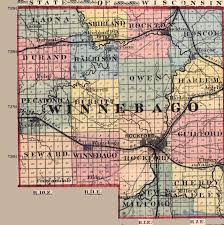 Map Of Iowa And Illinois by Winnebago County Illinois Maps And Gazetteers