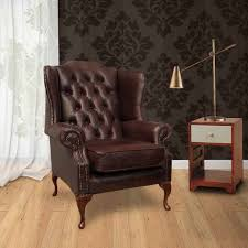 brown chesterfield mallory high back wing chair designersofas4u
