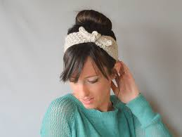 knitted headbands vintage knit tie headband pattern in a stitch