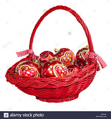 balls in basket decorated with traditional croatian