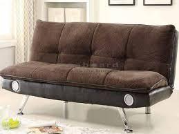 Living Room Bluetooth Speakers Coaster 500047 Dark Brown Bluetooth Pillow Top Sofa Bed Futon
