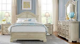 cortinella cream 5 pc queen panel bedroom queen bedroom sets