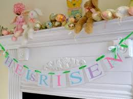 easter religious decorations easter banner garland easter decoration he is risen