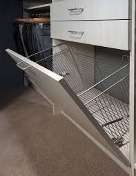 hidden laundry hamper closets precision glass and mirror