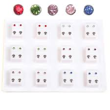 medicated earrings 12pairs piercing tool kit ear piercing gun earing for piercing gun