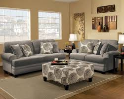 Loveseat Ottoman Albany Groovy Smoke Sofa U0026 Loveseat Set 8642 Savvy Discount