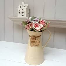 cotton flowers birthday cotton flowers in jug and engraved oak tag by