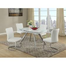 dining room table ls alina white 5 piece casual dining set el dorado furniture