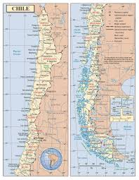 map of cities detailed political and administrative map of chile with roads