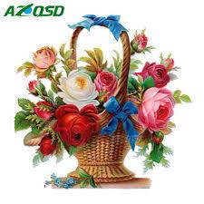 aliexpress com buy azqsd full round diamond painting kit home