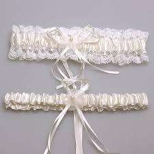 garters for wedding ivory lace bowknot bridal garter set wedding